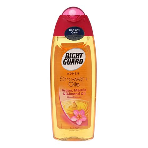 Laurent Shower Gel 250ml new right guard argan marula almond oils dull skin