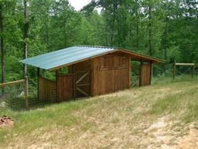 Goat Farming Sheds Design by Great Goat Shed With Another Side For Either Sheep Or