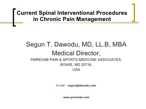 Procedure Of Mba After M by Spinal Injections