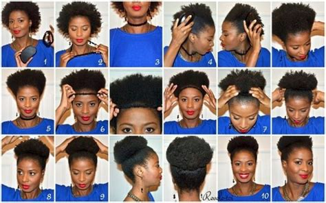 puff hairstyles step by step bun check out 5 awesome natural hair tutorials found on