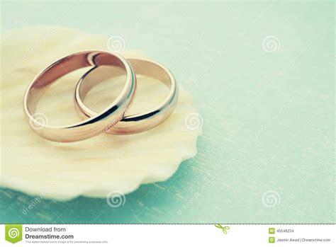 Wedding Background Light Blue by Wedding Rings On Seashell Stock Photo Image 45546234