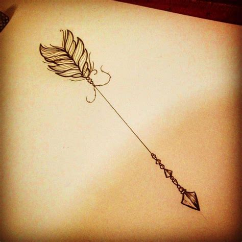 arrow with feather tattoo best 25 arrow tattoos ideas on arrow