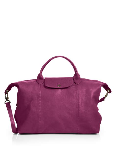 Longch Le Pliage Neo Handle Cosmetic Bag Small Size Orange longch le pliage cuir small top handle bag in purple fuchsia lyst