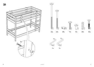 ikea bunk bed instructions ikea mydal bunk bed frame twin furniture download user guide for free 53ba manual guru