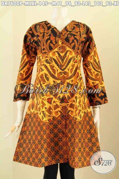 desain dress masa kini baju dress batik motif klasik pakaian batik wanita masa