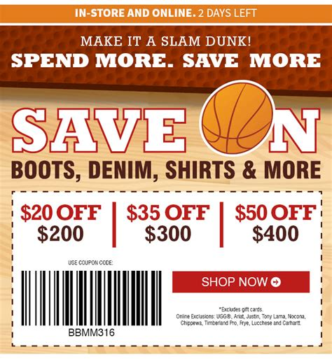 boot barn coupon codes 20 boot barn coupons 2 days left save up to 50