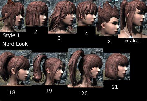 best hair mod for skyrim kuma kuma kokuma hair and bagserk hair retexture at skyrim