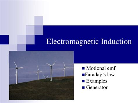 electromagnetic induction exles ppt electromagnetic induction powerpoint presentation id 298275