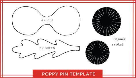 poppy cut out template tutorial a paper poppy pin for remembrance day o c c a