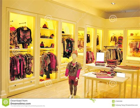 Wardrobe Retailers by Children S Fashion Clothing Store Stock Image Image 21835399