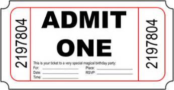 Blank Admit One Ticket Template by Ticket Admit One Blank Clipart Best