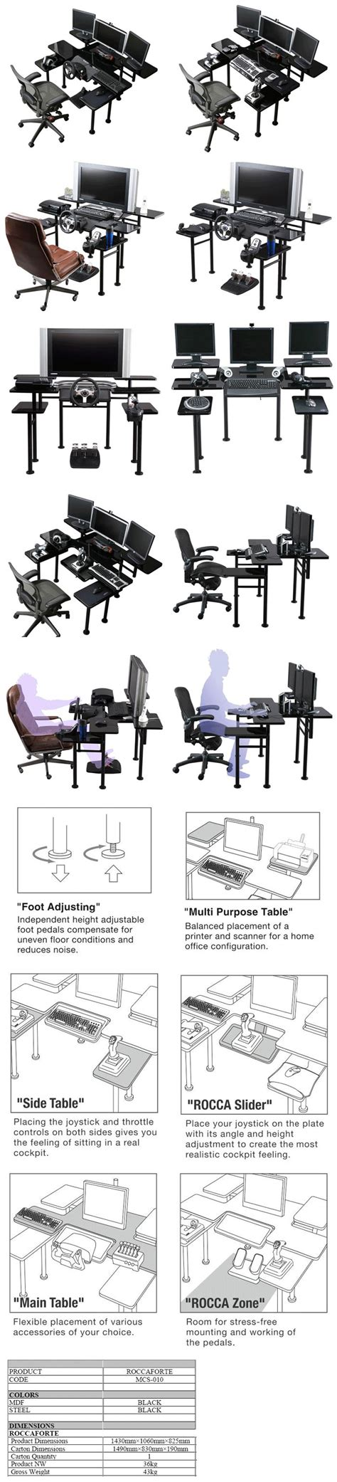 728 Best Images About Decor Workspaces On Pinterest Roccaforte Gaming Desk