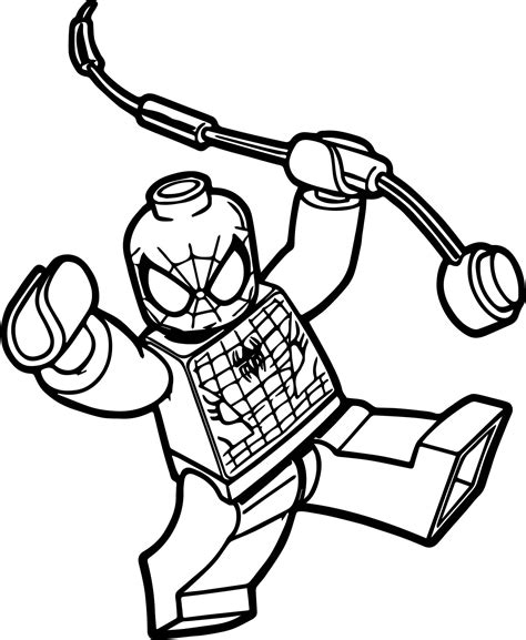 cartoon lego spiderman coloring pages with spiderman