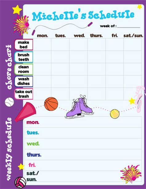 Room Planner Free Online custom girl sports calendar pad schedule planner