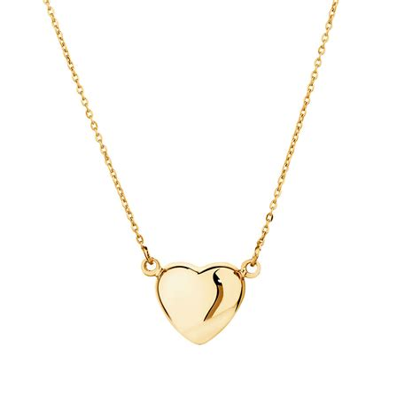 Pendant Necklace Gold With I You mini necklace in 10kt yellow gold