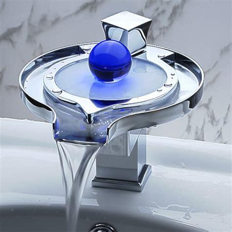 Special frisbee design waterfall bathroom vanity sink led faucet jpeg