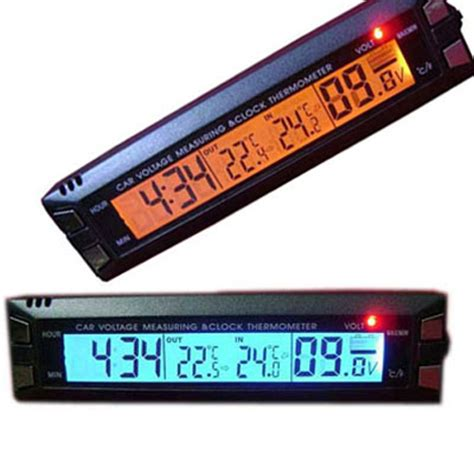 Jual Termometer Ruangan Digital Surabaya baru jual termometer voltmeter jam digital untuk mobil unik