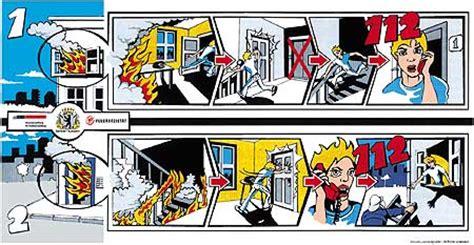 wohnung comic feuer richtig reagieren wenn es brennt berliner