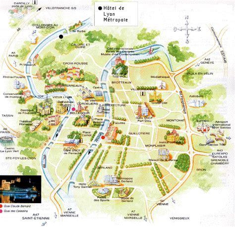 infos sur plan de lyon avec arrondissement arts  voyages