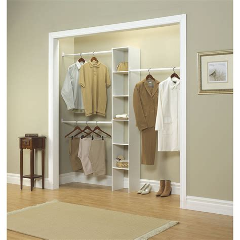 closetmaid vertical closet organizer 12 white walmart