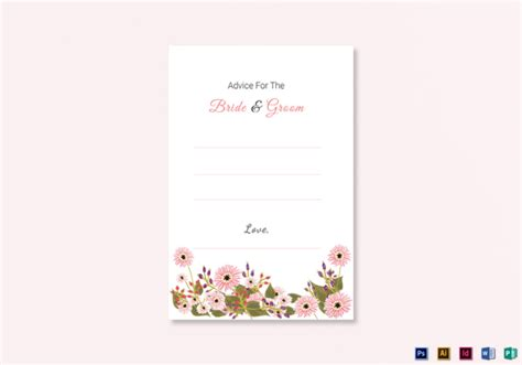 advice for the cards template 14 wedding advice cards editable psd ai indesign