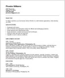 Social Services Resume Exles by Social Work Resume Exles Resume Format Pdf