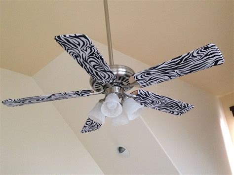 zebra print ceiling fan fan blade designs zebra fan blade designs