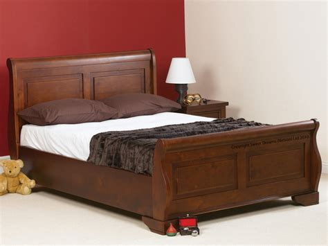 king size sleigh bed frame sweet dreams jackdaw king size mahogany sleigh bed frame