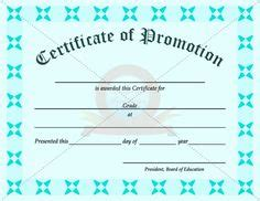 certificate of promotion template 1000 images about school certificate template on