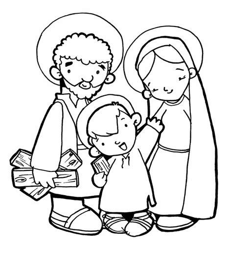 imagenes de jesus jose y maria para colorear dibujos para catequesis la sagrada familia de jes 218 s