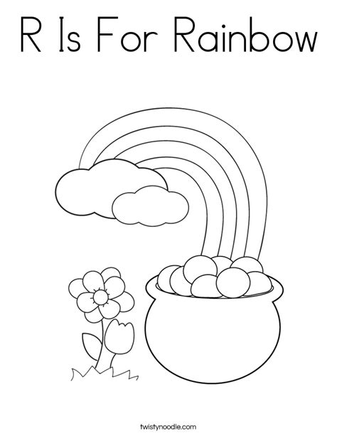 R Is For Rainbow Coloring Page by R Is For Rainbow Coloring Page Twisty Noodle
