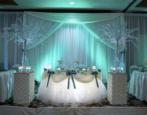 teal reception sweetheart table deco reception decor