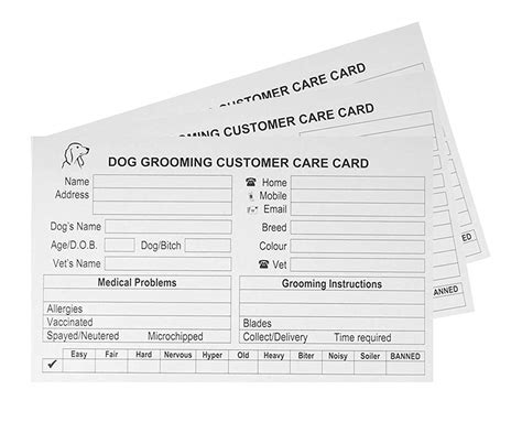 grooming record card template 28 images resources