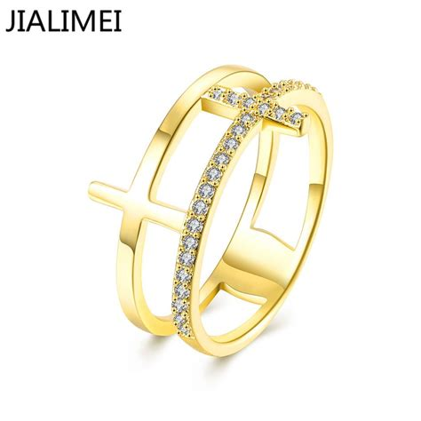 high quality gold color finger ring for lady wedding