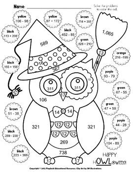 printable halloween multiplication worksheets halloween owl math worksheet free by flapjack educational