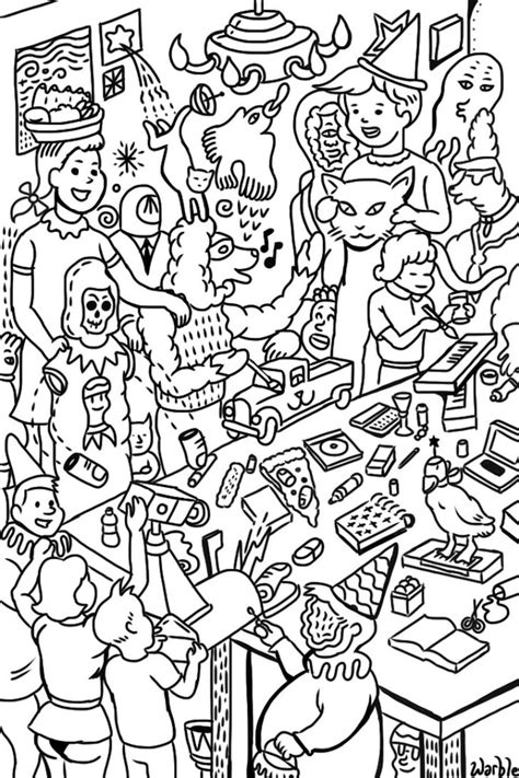 warble art party coloring page by hyronomous on deviantart