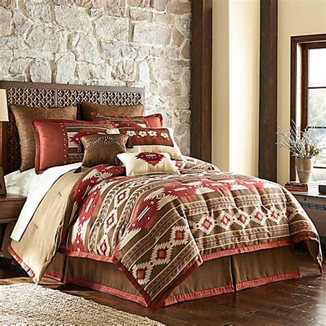 bed bath and beyond cheyenne cheyenne comforter set in brown bed bath beyond