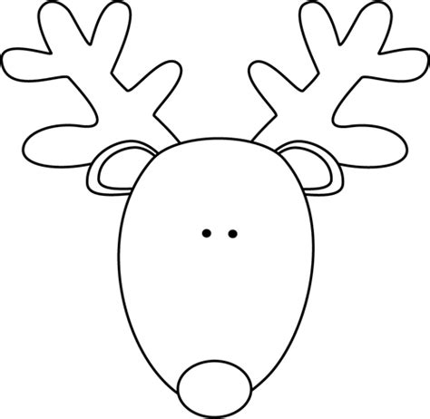 reindeer face outline template search results calendar