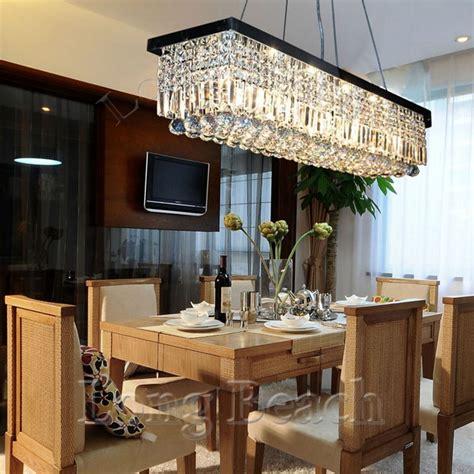 What Size Dining Room Light Fixture Modern Large Rectangular Led Chandelier Light