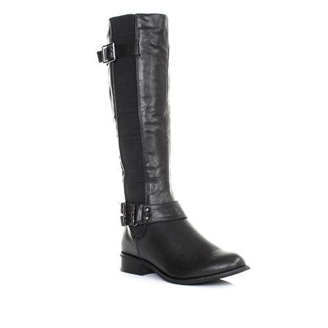 womens slim calf fit chelsea flat knee high casual