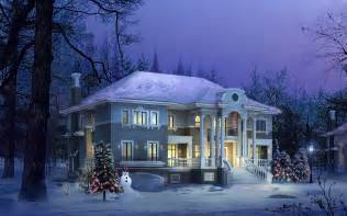 Winter House wallpaper 154418