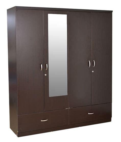 four door ellipse style wardrobe hometown utsav 4 door wardrobe with mirror buy at best price in india on snapdeal