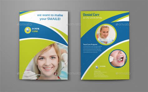 dental clinic bi fold brochure template by owpictures
