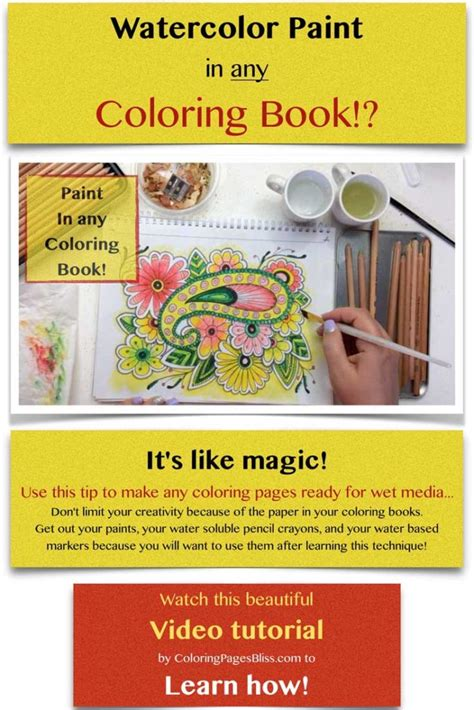 how to make coloring pages watercolor safe