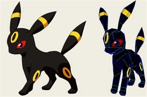 Umbreon Papercraft - papercraft umbreon paperkraft net free