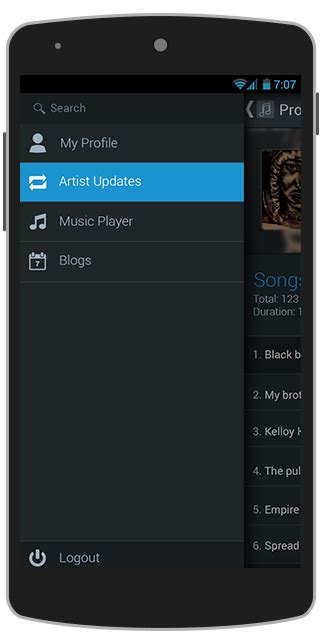phonegap templates for android free band mate android app template