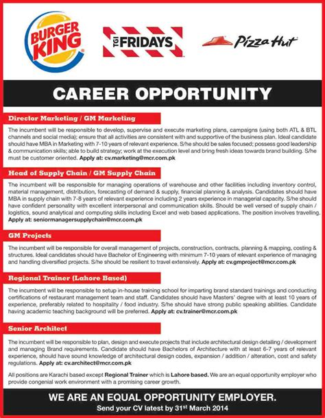 Marketing Jobs Resume Keywords by Managers Trainer Amp Architect Jobs In Lahore Karachi