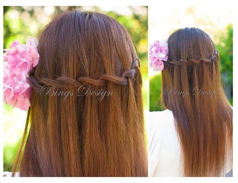 water fall hairstyle for straight long hair www