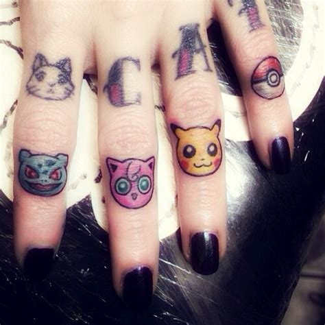 cat finger tattoo finger tattoos