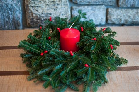candle wreath centerpieces fresh wreaths delivered app evergreens